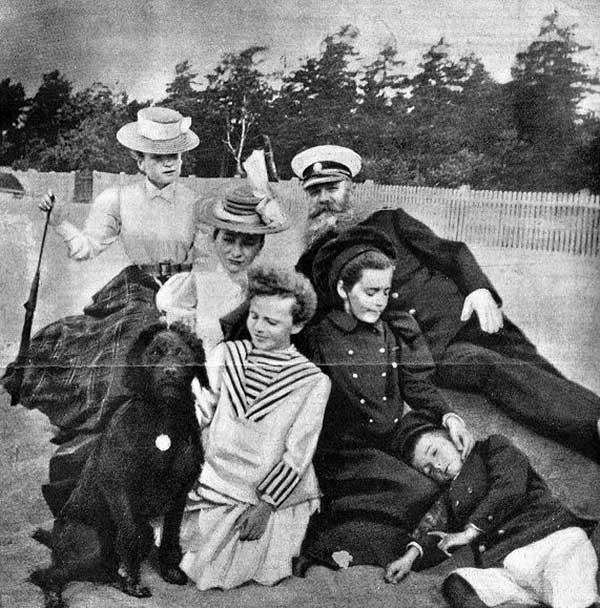С.О. Макаров с семьёй на отдыхе