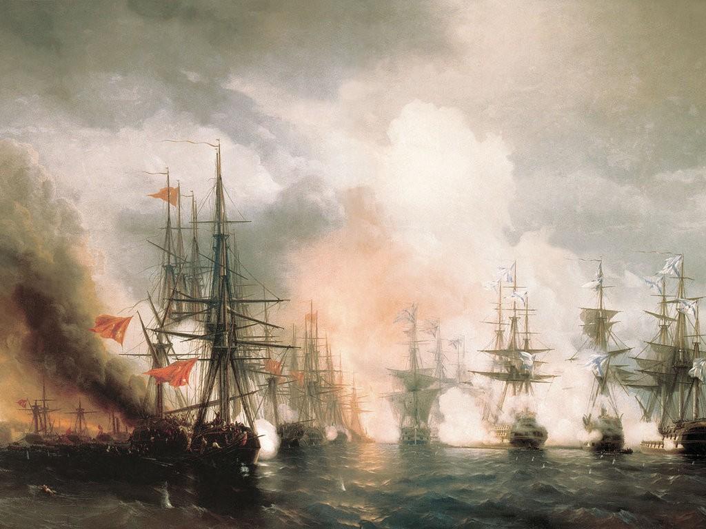 «Синопский бой» Иван Айвазовский. 1853 г.
