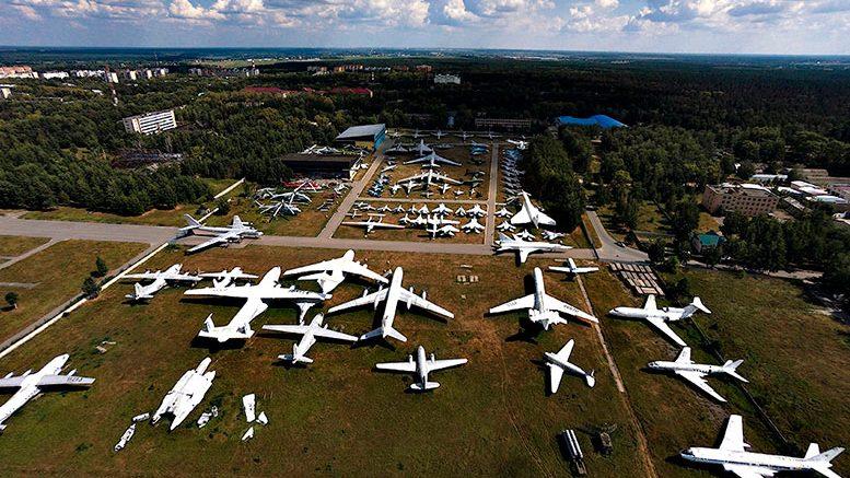Вид с высоты птичьего полёта на Центральный музей ВВС.