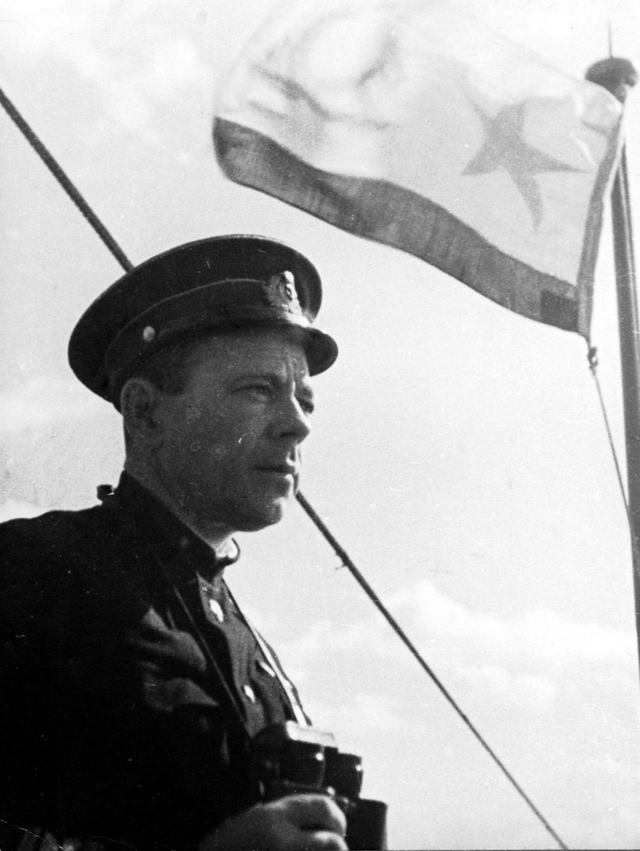 Командир подводной лодки «Щ-304» Я.П. Афанасьев.