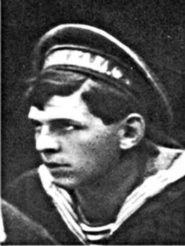 Матрос-кочегар А.Г.Железняков, 1916 г. Член Центробалта, активный участник революционных событий в октябре 1917 года в Петрограде и Гражданской войны по установлению Советской власти на юге страны.