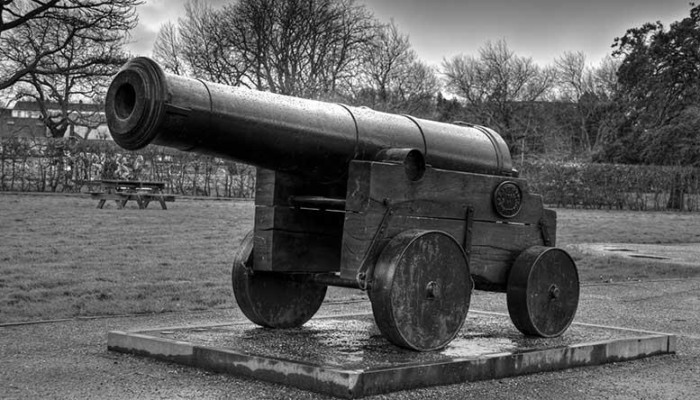 Трофейное русское орудие времен Крымской войны, Уотерфорд, Англия