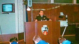 В Киевском высшем Военно-морском политическом училище.