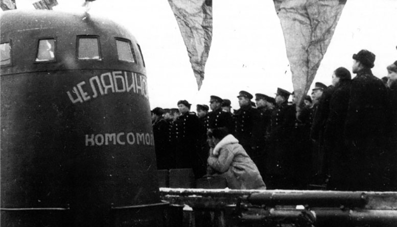 Церемония вступления в строй                  ПЛ «М-105».