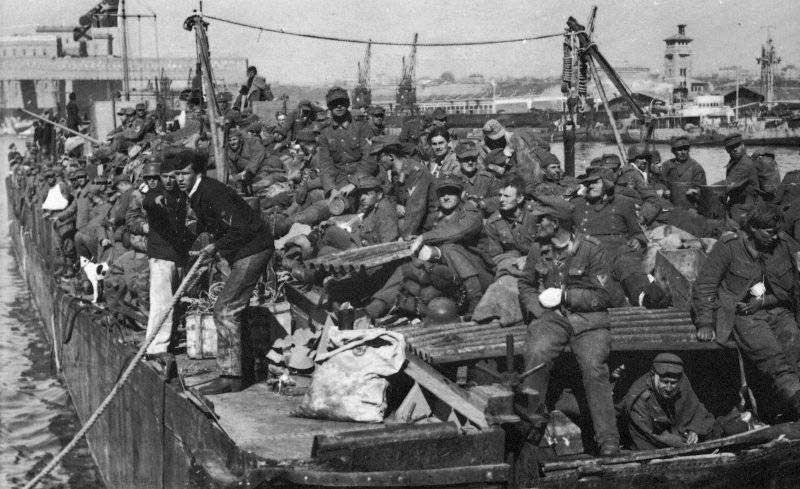 Бегство немецких солдат
