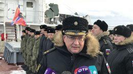 Океанографическое исследовательское судно «Адмирал Владимирский» покинуло Кронштадт.