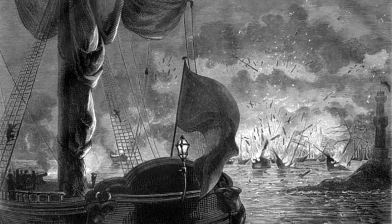 Чесменское морское сражение. 1770 г.