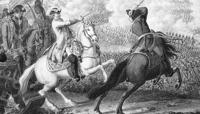 Битва при Кагуле 21 июля 1770 г. с гравюры XVIII века