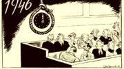 Нюрнбергский процесс. Карикатура Бориса Ефимова.