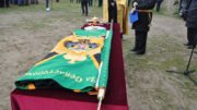 Возвращённое знамя Камчатского пехотного полка.