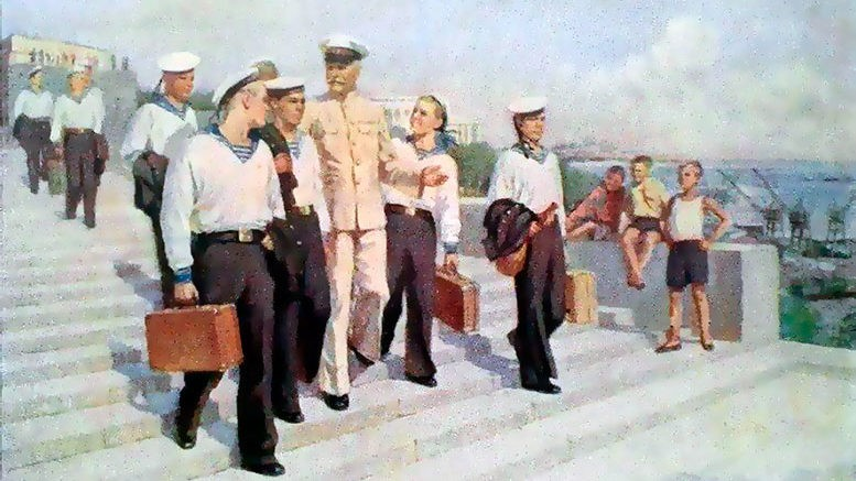 Шполянский Григорий Ефимович (1899-1981) «В первое плаванье» 1952 г.