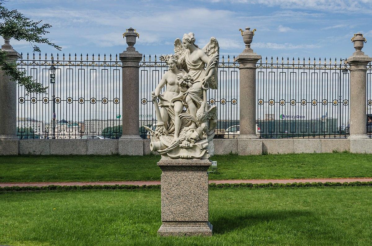 Скульптурная группа «Мир и Победа. Ништадтский мир». П. Баратта